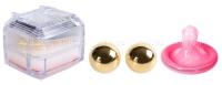 Маленькие металлические шарики в шкатулке