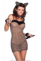 Сексуальное платье леопардовой расцветки SL