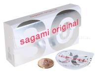 Ультратонкие полиуретановые презервативы SAGAMI Original 0,02 мм (12 шт.)