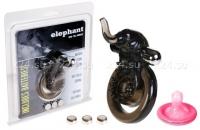 Стимулирующая вибро-насадка на пенис и мошонку Elephant