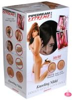 Большегрудая брюнетка с реалистичной вагиной и анусом Kneeling Nikki