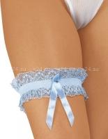 Нежно-голубая подвязка на ногу