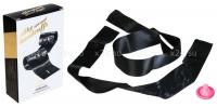 Черные атласные фиксирующие ленты Silky Sensual Handcuffs