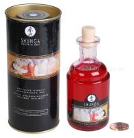 Возбуждающее разогревающее съедобное масло Интимный поцелуй (малина)