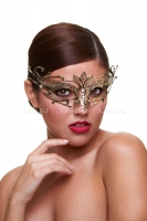 Золотая карнавальная маска со стразами Masq Private Affair