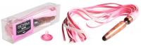 Деревянная анальная втулка-плеть розовый