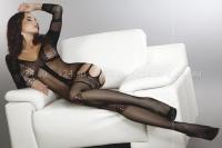 Черный комбинезон с сочетанием разных узоров Corra Black (SL)