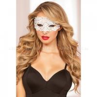 Белая кружевная маска на завязочках Lace Mask