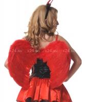 Малые красные крылья из перьев