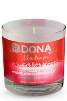 Массажная свеча для оральных ласк Dona Kissable Massage Candle Strawberry Souffle