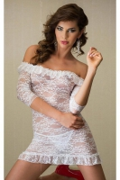 Белое ажурное платье ML