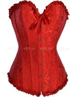 Красный жаккардовый корсет S