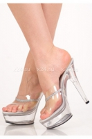 Туфли прозрачные с серебряными стразами 39