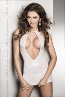 Открытое белое платье под винил с глубоким вырезом Femi LXL