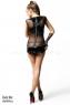 Прозрачное платье с виниловыми вставками Anette SM