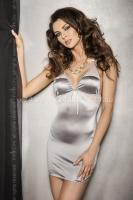 Серебристое платье с кружевными вставками Halla SM