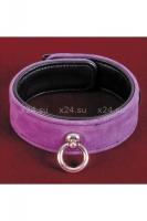 Фиолетовый замшевый ошейник Toyfa