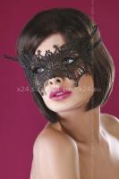 Чёрная ажурная маска Mask Black Model 11