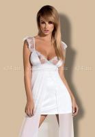 Белоснежная комбинация с прозрачной длинной юбкой Feelia Gown LXL