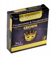 Презервативы OKAMOTO Crown Ультратонкие (3 шт)