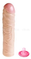 Реалистичный фаллос с венками Ivory Duo 8.5''