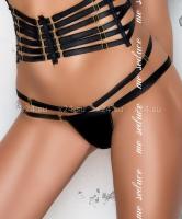 Черные стринги с лентами по бокам Loretta string SM