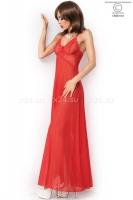 Красная длинная сорочка с вырезом сзади LXL