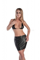 Кожаная юбка с лифом LXL