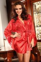 Красный халатик с кружевными вставками и стрингами Prilance Red SL