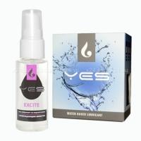 Возбуждающий лубрикант на водной основе YES Excite (30 мл)
