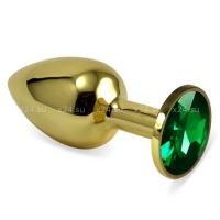 Малая золотая пробочка с изумрудным кристаллом
