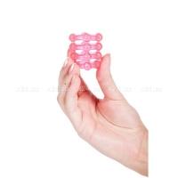 Четырехрядное эрекционное кольцо-насадка Penis Silicone Sleeve