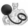 Тяжелый анальный шар с эрекционным кольцом Tom of Finland