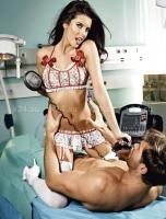 Кружевной комплект медсестры скорой помощи D-size