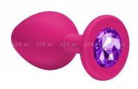 Малая силиконовая пробочка с фиолетовым кристаллом Cutie Small