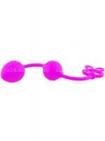 Двухрядные силиконовые анальные шарики Pretty Love Balls