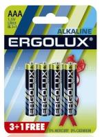 Набор из 4-х батареек ERGOLUX Alkaline  (тип AAA)