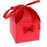 Деревянная анальная втулка со светло-голубым хвостиком в подарочной упаковке