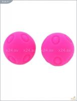 Металлические шарики с розовым текстурированным силиконовым покрытием MAIA SILICON BALL SB3