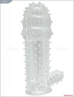Насадка с пупырышками и стимулирующим отростком из серии PENIS XL