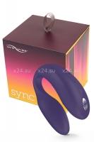 Вибромассажер для пар We-Vibe-Sync на радиоуправлении (10 режимов, фиолетовый)