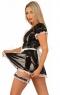 Комплект горничной из винила (платье и передник) M