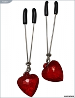 Зажимы для груди с красными сердечками