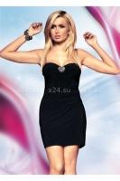 Мини-платье Elly с плотными чашечками и прозрачным сердцем на спинке SM