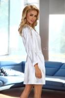 Белый халатик с кружевными вставками Alexandra white LXL