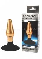Небольшой металлический каплевидный анальный стимулятор на присоске IRON LOVE