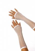Белые перчатки в сеточку