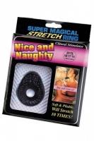 Прозрачное стимулирующее эрекционное кольцо Nice and Naughty Super Magical Stretch