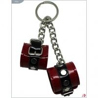 Сувенир-брелок красные лакированные наручники