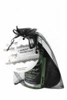 """Подарочный набор WARM UP: маска на глаза и разогревающее съедобное масло """"Зеленое яблоко"""" 150 мл"""
